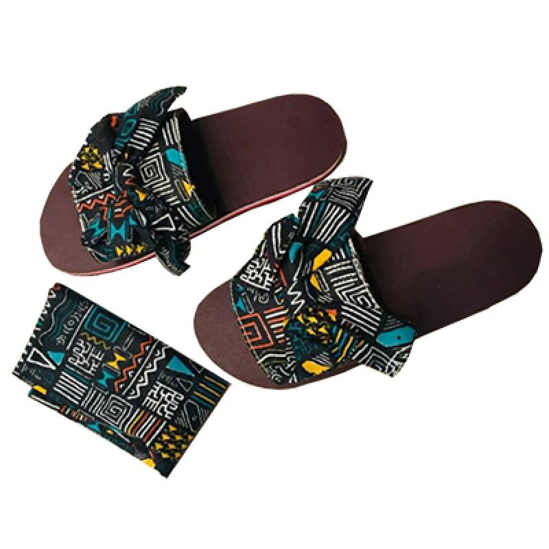 Good Quality Designer slippers - Ankara slippers