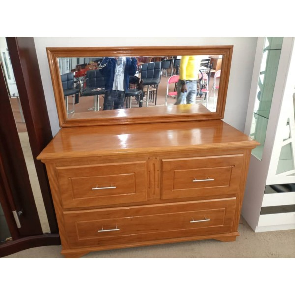 Dressing Table with Mirror / Low Chest of Drawers