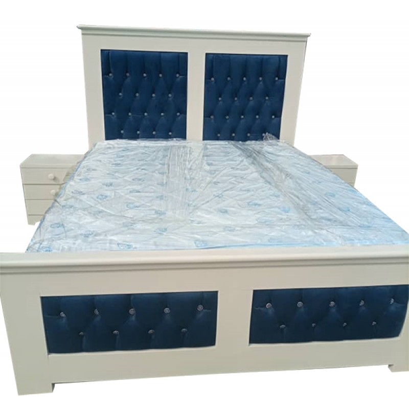 Luxurious Good Quality  3place Bed with 2 Side cupboard
