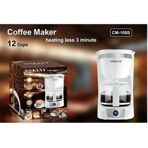 Sokany Coffee Maker White 12 cups