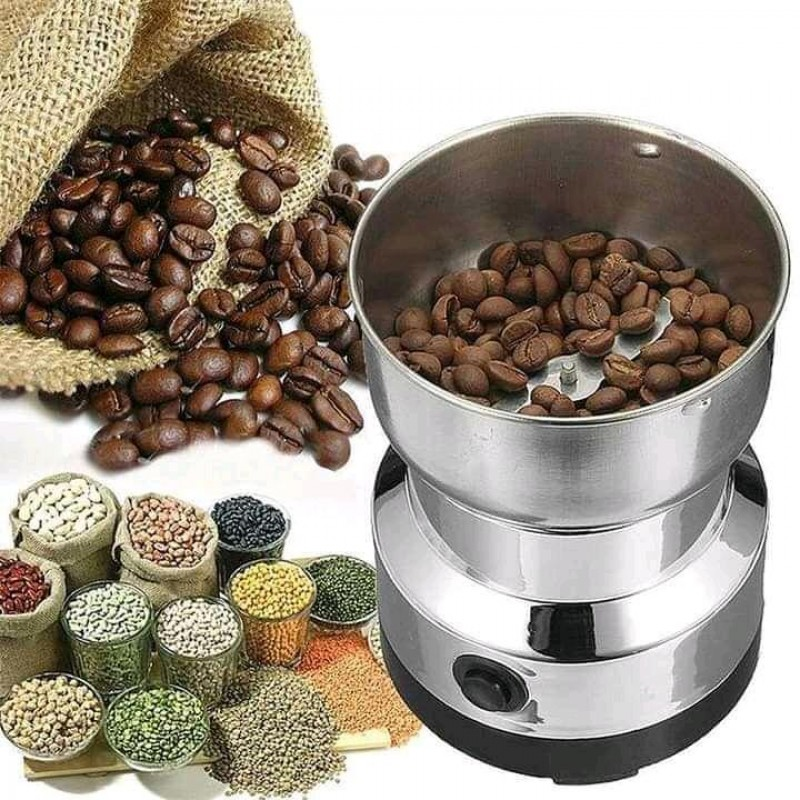 Coffee Grinder Stainless Steel Electric Spice Coffee Nut Grain Herb Grinder Crusher Mill Blender Kitchen Tool