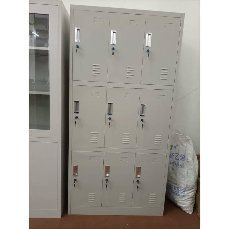 CNF12052001 - 9 Section Staff Locker - Grey