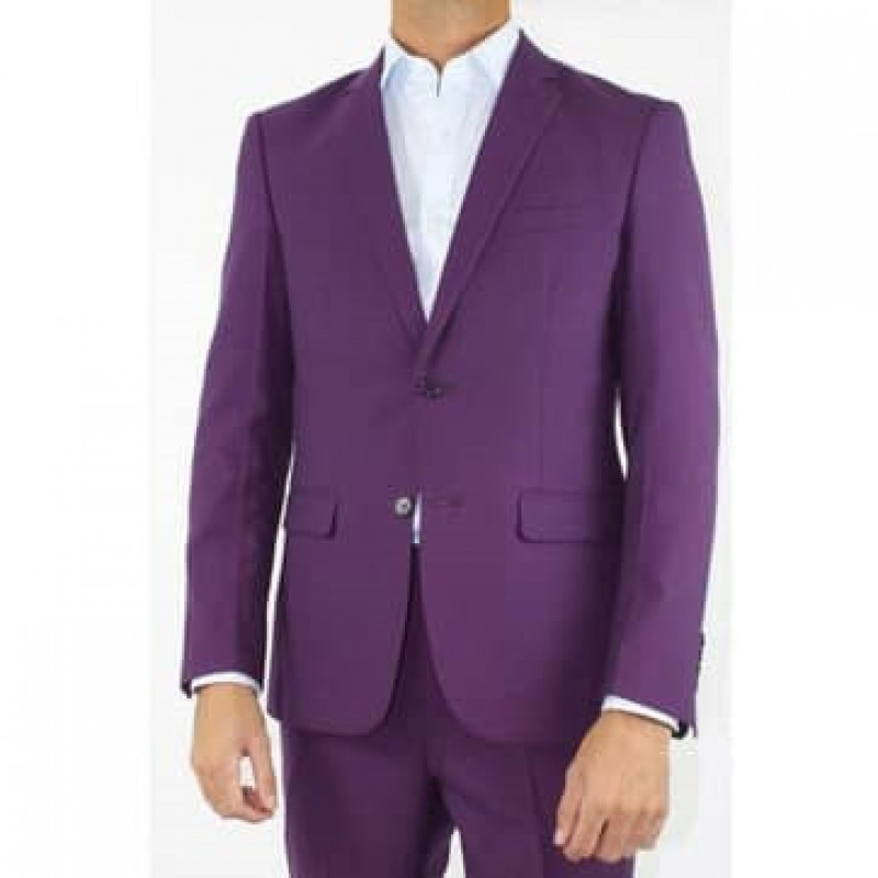 HLP10052006 - Purple Business Suits for MEN of good quality