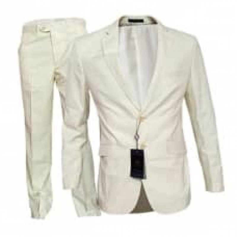 HLP10052015 - White Business Suits for MEN of good quality