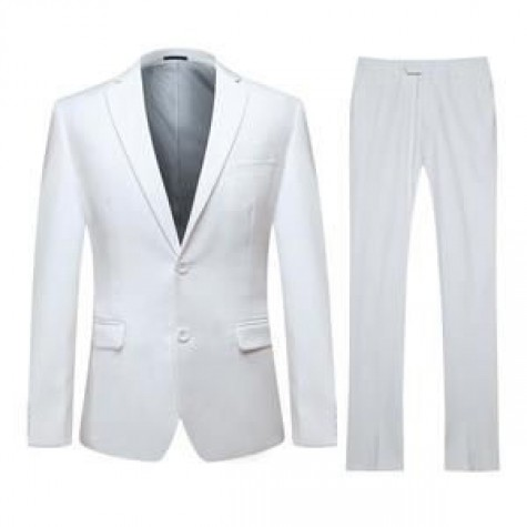 HLP10052014 - White Business Suits for MEN of good quality