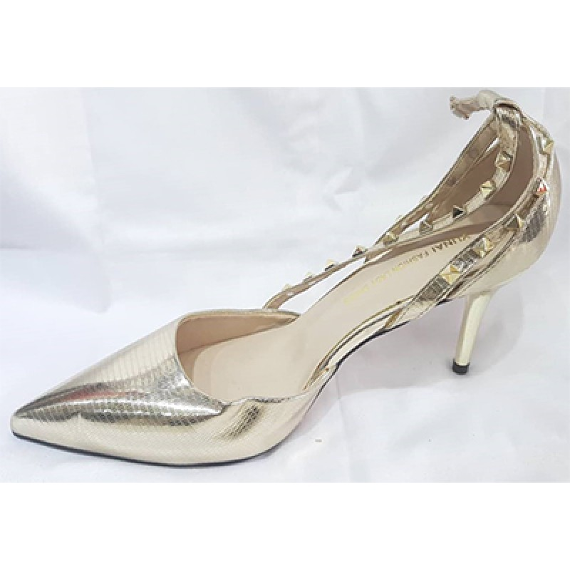 KHF28052002 - Gold Heels for Women of rated quality