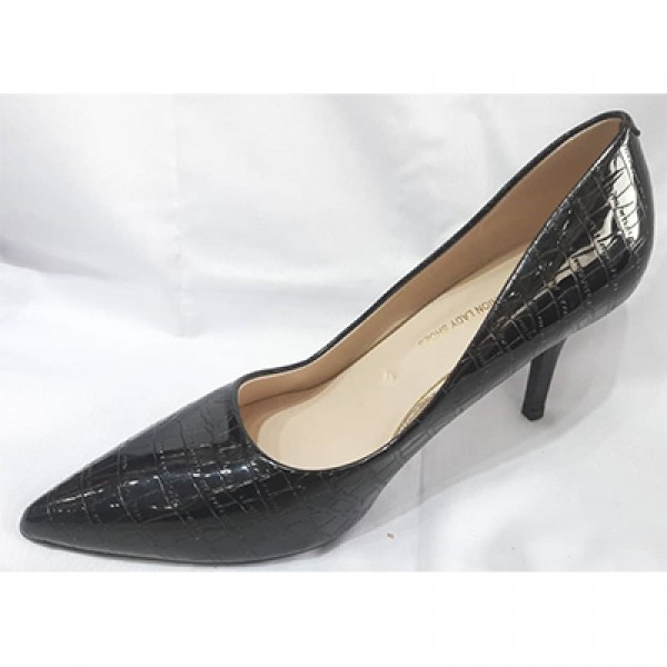 KHF28052003 - Black Heels for Women of rated quality